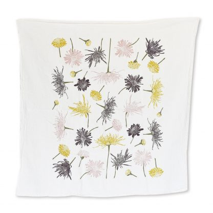 Chrysanthemums Tea Towel