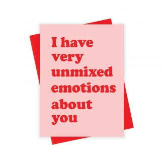 Unmixed Emotions Card