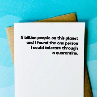 8 Billion People Valentine's Card