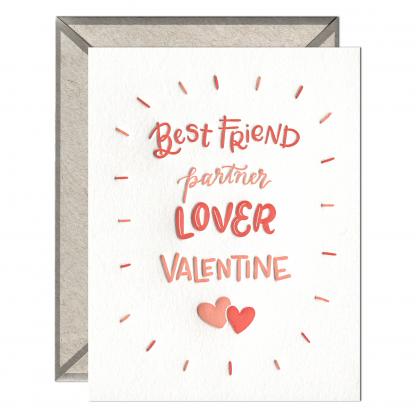 Partner Lover Valentine card