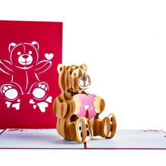 Love Bear 3D card