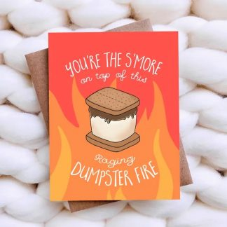 Dumpster Fire Valentine's Card
