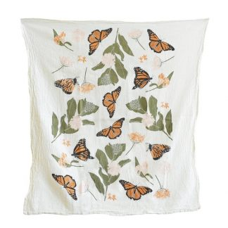 Monarchs & Milkweeds Tea Towel