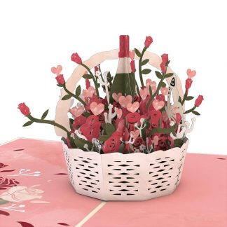 Flower Basket 3D card