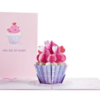 Love Cupcake 3D card