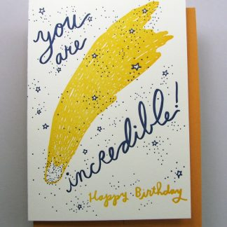 Comet Happy Birthday card