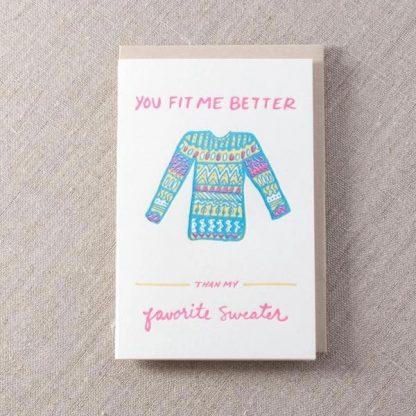 Favorite Sweater card