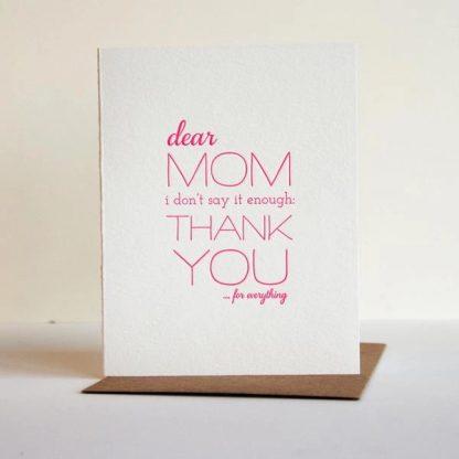 Mom Thanks card