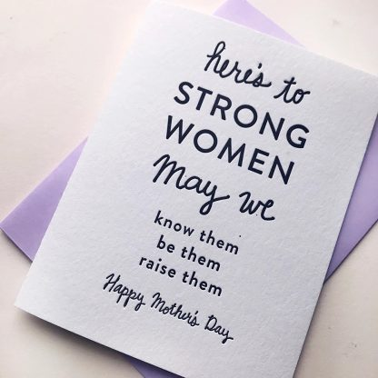 Strong Mother's Day card