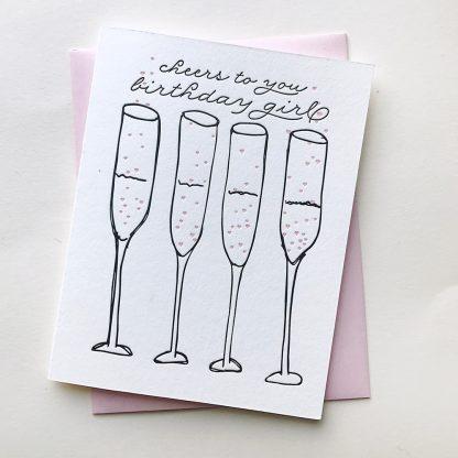 Cheers Birthday Girl Card