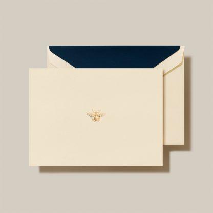 Engraved bee notecards