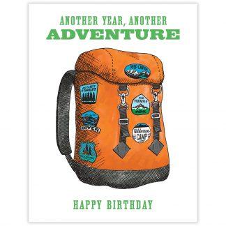 Backpack Adventure Birthday Card