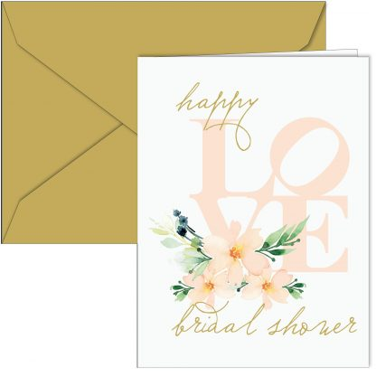 """Happy LOVE Bridal Shower"" Card"