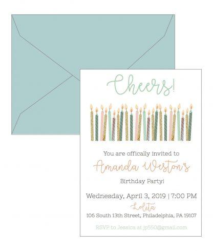 Cheers Birthday Invitation
