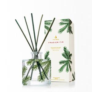 Thymes Frasier Fir Reed Diffuser - Pine Needle & Green Glass