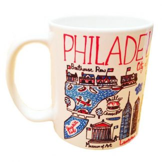 Illustrated Philadelphia Map Mug