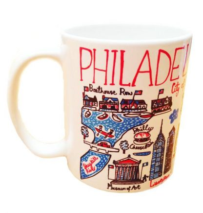 Illustrated Philadelphia Map Mug