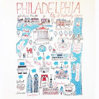 Illustrated Philadelphia Map Print