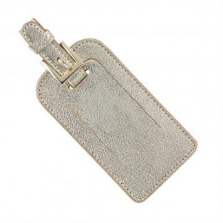 Metallic Leather Luggage Tags