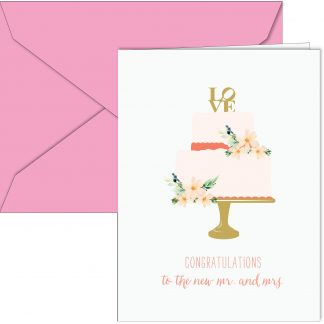 """LOVE Wedding Cake"" Card"