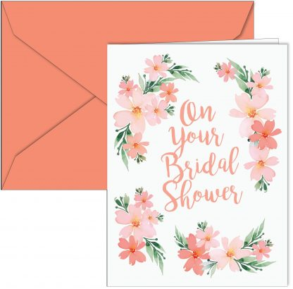 """On Your Bridal Shower"" Flower Card"