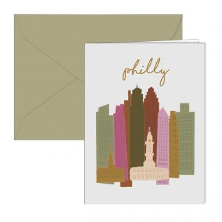 Colorful Skyline Card