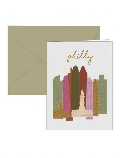 Colorful Skyline Card