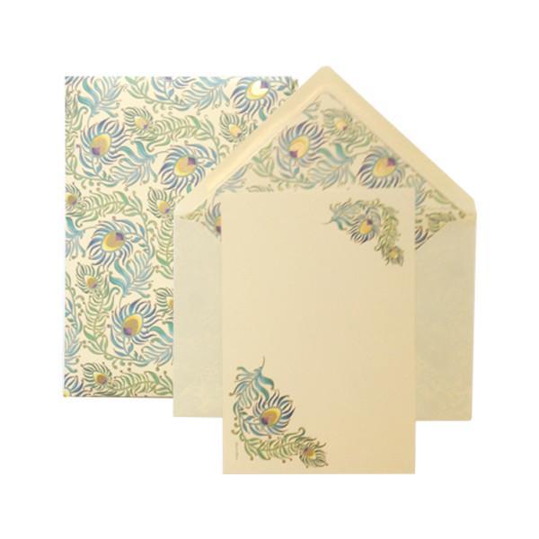 Peacock Small Portfolio Cards
