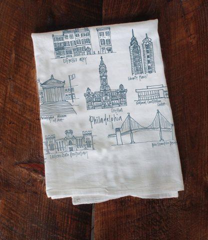 Philadelphia Landmarks Tea Towel