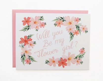"""Will You Be My Flower Girl"" Card"